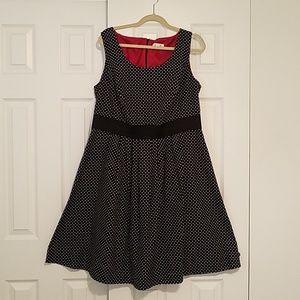 Dressbarn XL Polka Dot Sleeveless Dress